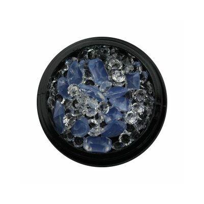 Nail Art Box - 3D - Opaque kék / kristály