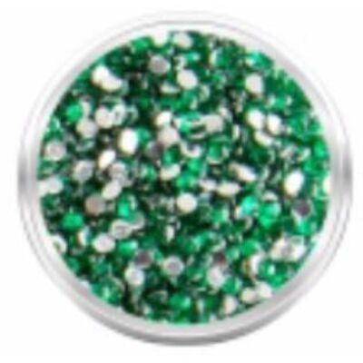 Strassz kövecskék - 2000db - mély smaragd