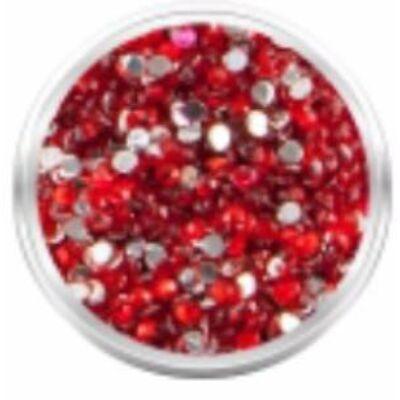 Strassz kövecskék - 2000db - piros