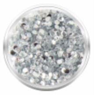Strassz kövecskék - 2000db - kristály-ezüst