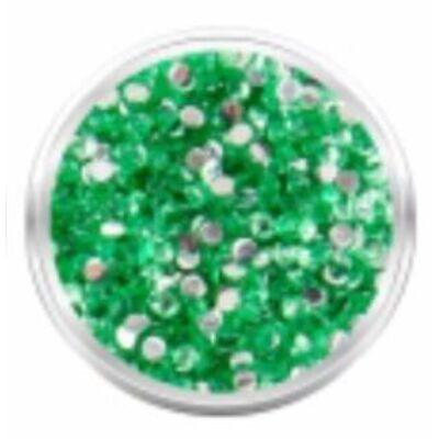 Strassz kövecskék - 2000db - zöld