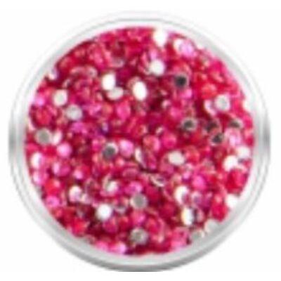 Strassz kövecskék - 2000db - sötét rózsaszín