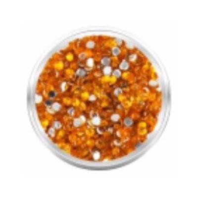 Strassz kövecskék - 2000db - karmeol narancs