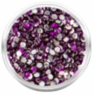 Strassz kövecskék - 2000db - mély lila