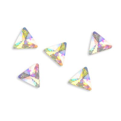 Gyémántstrassz - háromszög alakú - 5 db