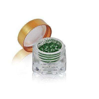 Lézer csillámpor - zöld