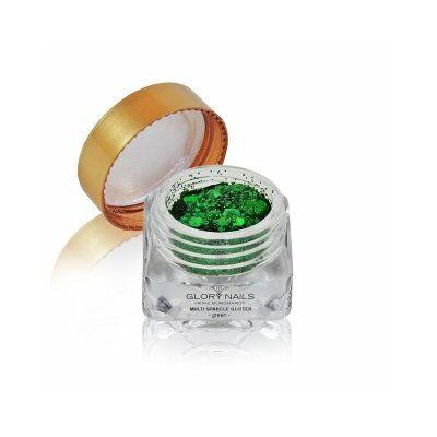 Ragyogó csillámpor - multi sparcle - zöld
