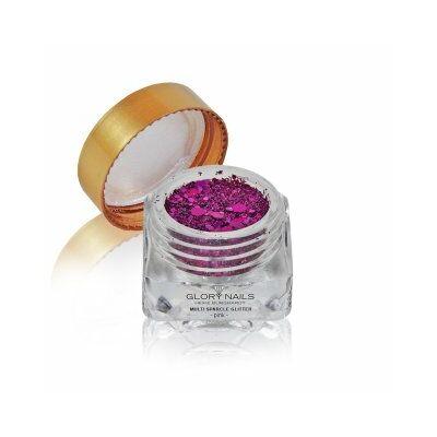 Ragyogó csillámpor - multi sparcle - pink / rózsaszín