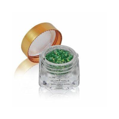 Pasztell csillámpor - világos zöld