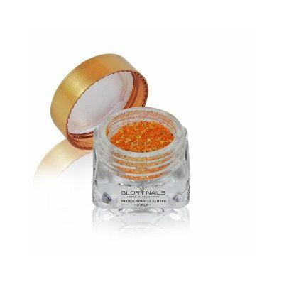 Pasztell csillámpor - narancssárga