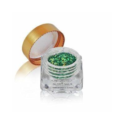 Szivárványos csillámpor - smaragd zöld