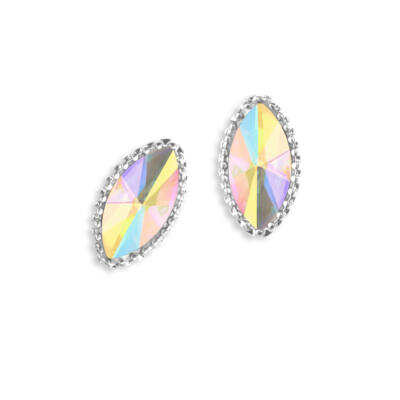 Gyémántstrassz - szem alakú - 2 db