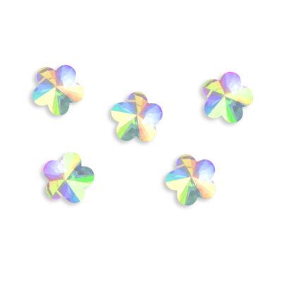 Gyémántstrassz - virág alakú - 5 db
